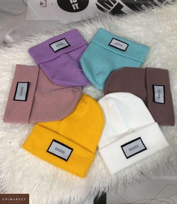 Купить выгодно женскую и мужскую шапку с надписью Gucci дешево разных цветов