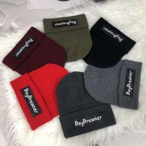 Купить недорого женскую и мужскую шапку с надписью Day Dreamer разных цветов