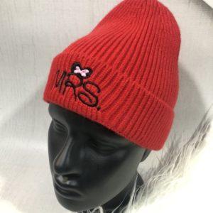 Купить красную шапку Mickey с надписью Mrs для женщин выгодно
