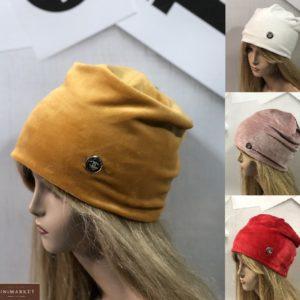 Приобрести горчица, пудра, красную, белую шапку из двойного велюра Chanel для женщин в интернете