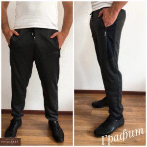 Приобрести цвета графит мужские трикотажные спортивные штаны с манжетами онлайн