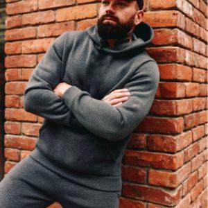 Купить цвета графит базовый спортивный костюм для мужчин на флисе (размер 48-52) недорого