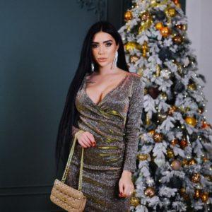 Приобрести бронзовое женское платье из мерцающего люрекса недорого
