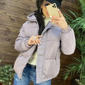 Заказать розовую женскую короткую зимнюю куртку с капюшоном (размер 42-48) недорого