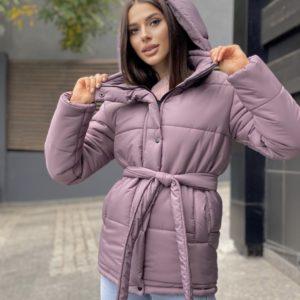 Заказать онлайн цвета фреза утепленную зимнюю куртку с поясом для женщин