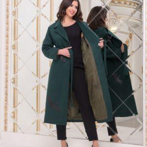 Приобрести цвета бутылка женское кашемировое пальто с принтом журавли (размер 42-56) в интернете