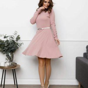 Заказать пудра женское платье-гольф с клиньями (размер 42-48) выгодно
