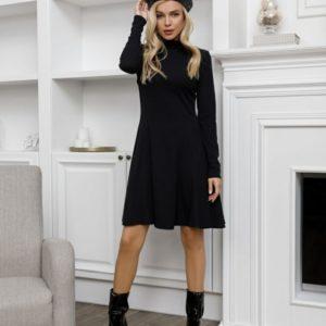 Заказать черного цвета онлайн платье-гольф с клиньями (размер 42-48) для женщин