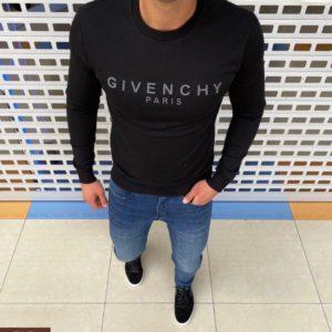 Купить недорого черного цвета свитшот Givency из двухнитки для мужчин
