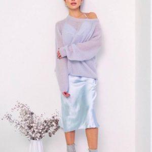 Купить выгодно голубой джемпер оверсайз для женщин