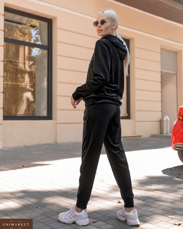 Приобрести черный спортивный костюм из велюра Sweet Love (размер 42-56) для женщин выгодно