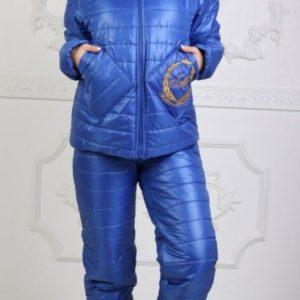 Приобрести выгодно женский лыжный костюм с мехом овчины (размер 42-56) синего цвета