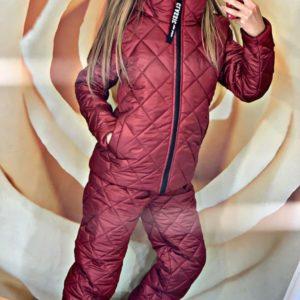 Приобрести бордо женский стёганный лыжный костюм на молнии (размер 42-48) в интернете