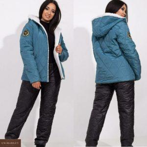 Купить морского цвета лыжный костюм Love женский на змейке (размер 42-56) онлайн