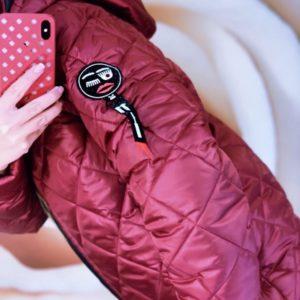 Заказать бордо женский стёганный лыжный костюм на молнии (размер 42-48) по низким ценам