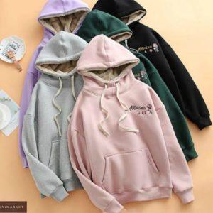 Приобрести дешево пудра, серый, зеленый, черный, лиловый женский спортивный костюм на флисе с подкладкой из овчины
