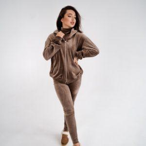 Заказать в интвелюровый спортивный костюм тройка (размер 42-48)ернете капучино женский