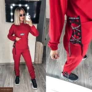 Приобрести красного цвета онлайн прогулочный костюм со шнуровкой love (размер 42-56) для женщин