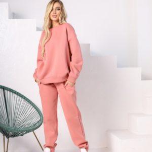 Купить выгодно женский спортивный костюм-комбинация со свитшотом (размер 42-48) цвета пудра