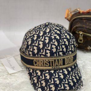 Купити жіночу і чоловічу бейсболку з принтом Christian Dior синю вигідно
