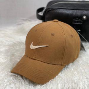 Заказать цвета мокко женскую и мужскую бейсболку з логотипом Nike недорого