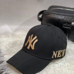 Заказать женскую и мужскую черную бейсболку с надписью New York недорого