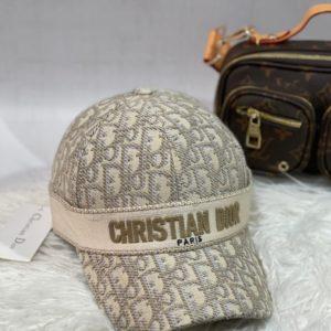 Замовити сіру жіночу і чоловічу бейсболку з принтом Christian Dior в інтернеті