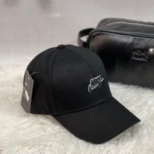 Заказать по низким ценам женскую и мужскую бейсболку с надписью Nike черного цвета