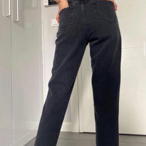 Приобрести недорого черные джинсы с высокой талией на резинке для женщин