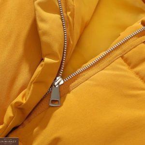 Купить горчица женскую базовую жилетку с карманами выгодно