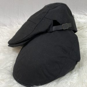 Купить черного цвета мужскую и женскую тканевую кепку-берет с регуляторами выгодно