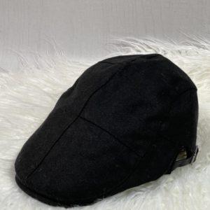 Заказать в интернете черную тканевую кепку-берет с регуляторами для мужчин и женщин