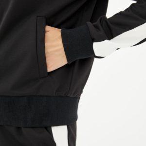Заказать женский черный спортивный костюм с олимпийкой на змейке (размер 42-56) недорого