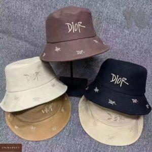Заказать онлайн разных цветов женскую панаму Dior с надписями
