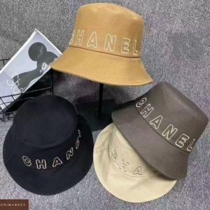 Заказать по низким ценам панаму Chanel беж, мокко, желтую, черную для женщин