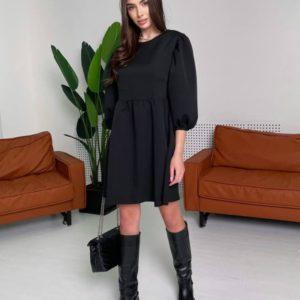 Заказать черное свободное для женщин платье оверсайз недорого