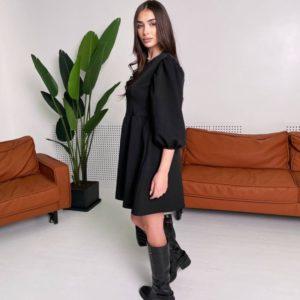 Купить по низким ценам женское свободное платье оверсайз черного цвета