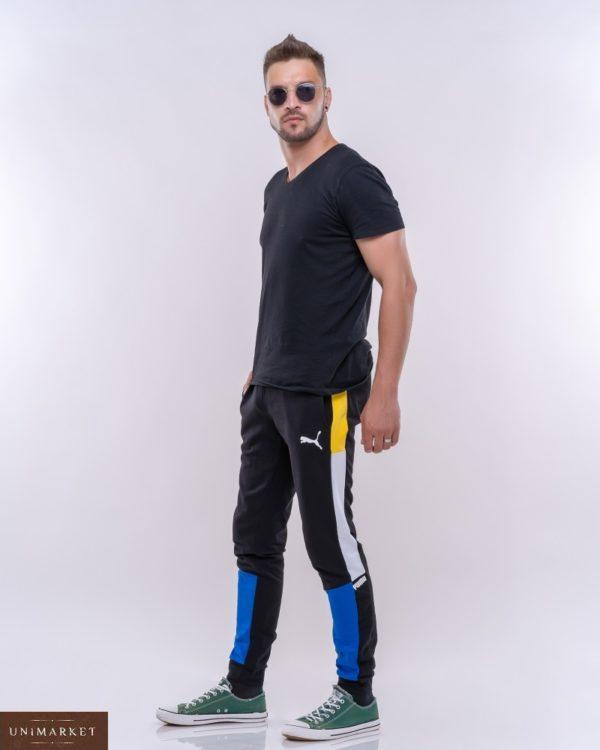 Заказать синие мужские спортивные штаны с комбинацией цветов (размер 46-52) выгодно