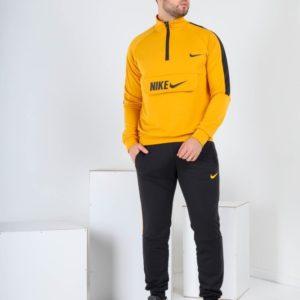 Заказать желтый мужской спортивный костюм Nike с поло на змейке (размер 46-52) недорого