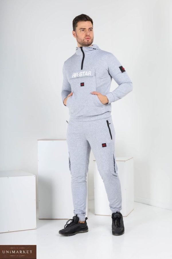 Заказать меланж спортивный костюм ЯR-STAR с капюшоном (размер 46-52) для мужчин по скидке