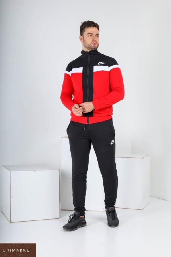 Купить красный мужской спортивный костюм с мастеркой на змейке (размер 46-52) по низким ценам