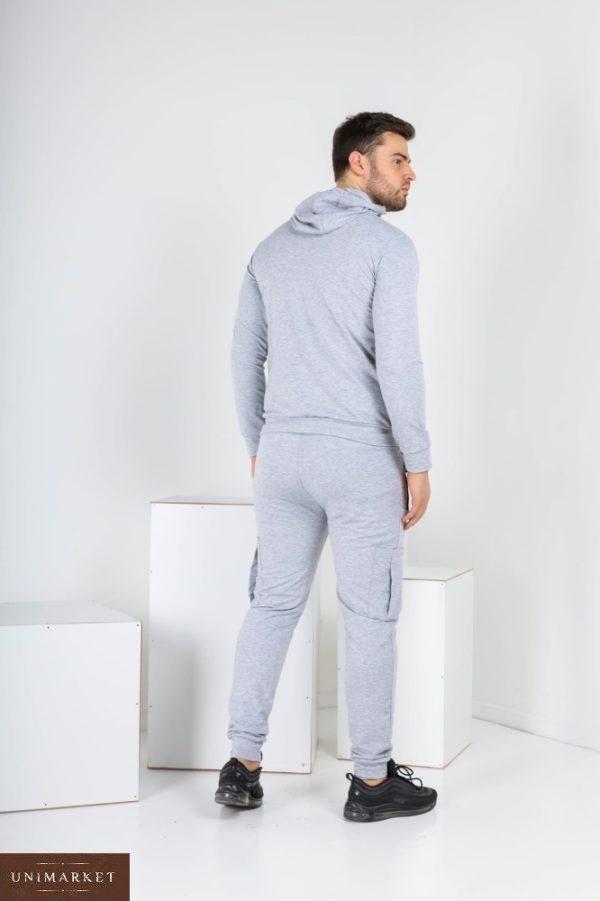 Приобрести выгодно мужской спортивный костюм ЯR-STAR с капюшоном (размер 46-52) серого цвета