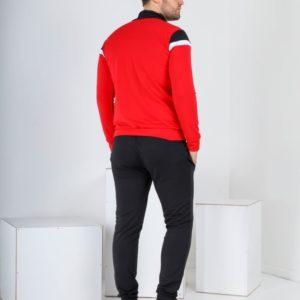 Приобрести недорого красного цвета спортивный костюм с мастеркой на змейке (размер 46-52) для мужчин