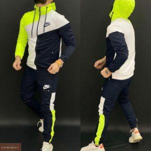 Заказать недорого желтый трехцветный спортивный костюм Nike на змейке (размер 46-52) для мужчин