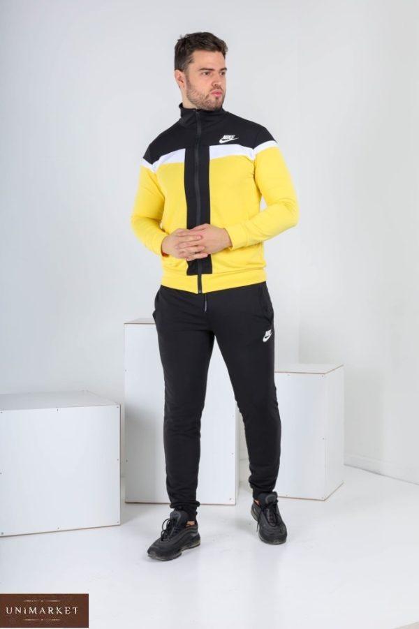 Купить желтого цвета мужской спортивный костюм с мастеркой на змейке (размер 46-52) выгодно