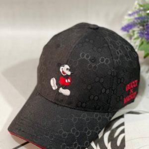 Купить онлайн черную бейсболку gucci с вышивкой Микки Маус для женщин