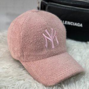 Купить розовую бейсболку для женщин new york из вельвета травка недорого