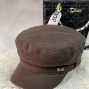 Приобрести шоколадного цвета женскую кепи Dior из кашемира в Украине