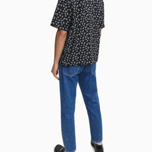 оригинальная рубашка Кельвин Кляйн мужская принт пальмы летняя на подарок L-XL размера