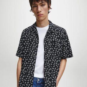 купить мужскую рубашку Calvin Klein с коротким рукавом на лето L размера